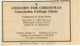 A concert for Christmas : Concordia College choir
