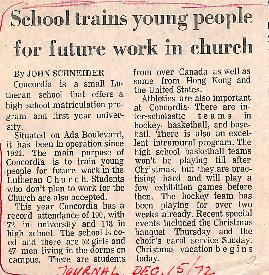 School trains young people for future work in church