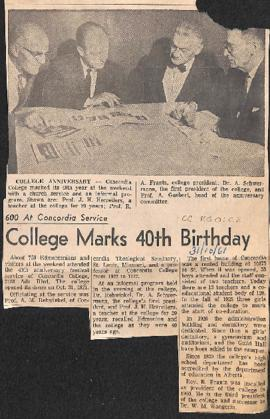 College marks 40th birthday