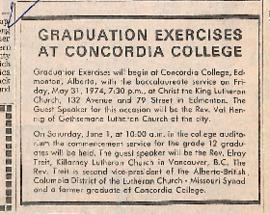 Graduation exercises at Concordia College