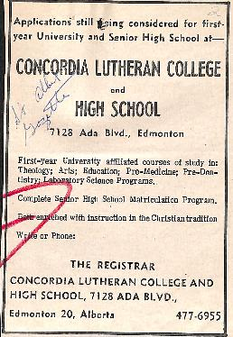 Concordia Lutheran College and High School