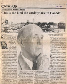 This is the kind the cowboys use in Canada' : Auctioneer Arthur Cload