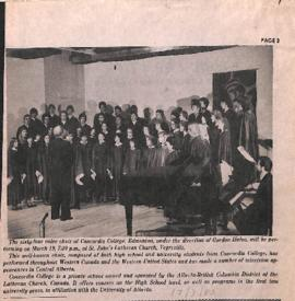 [The sixty-four voice choir of Concordia College, Edmonton]