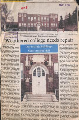 Weather college needs repair