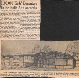 $105,000 girl's dormitory to be built at Concordia