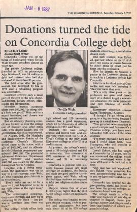 Donations turn the tide on Concordia College debt