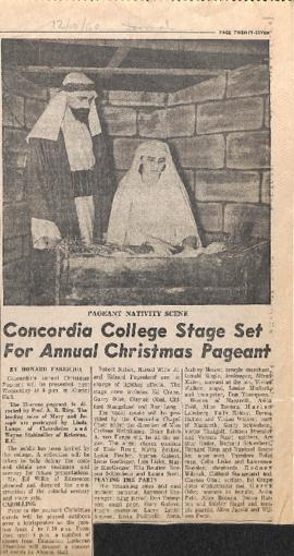 Concordia College stage set for annual Christmas pageant
