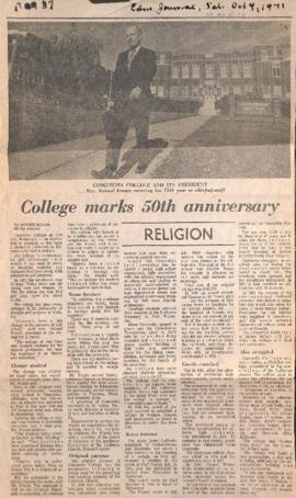 College marks 50th anniversary