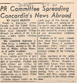 PR Committee spreading Concordia's news abroad