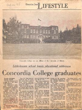 Concordia College graduates : little-known school leaves educational wilderness