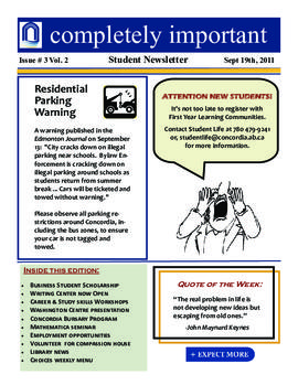 Concordia Weekly Newsletter Volume 02/Issue 03