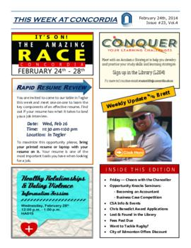 Concordia Weekly Newsletter Volume 04/Issue 23
