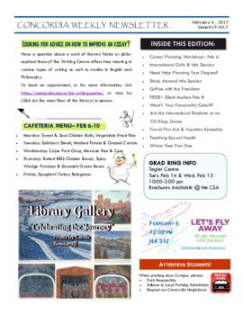 Concordia Weekly Newsletter Volume 07/Issue 19