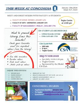 Concordia Weekly Newsletter Volume 04/Issue 17