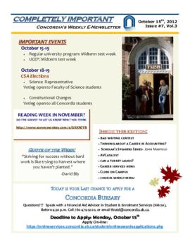 Concordia Weekly Newsletter Volume 03/Issue 07