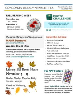 Concordia Weekly Newsletter Volume 06/Issue 10