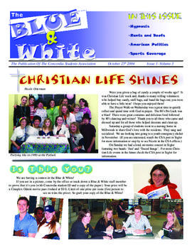 Blue & White 2004-2005/Issue 03