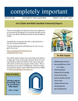 Concordia Weekly Newsletter Volume 01/Issue 22