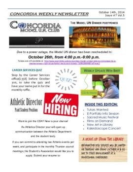 Concordia Weekly Newsletter Volume 05/Issue 07