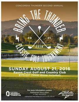 Bring the Thunder classic golf tournament