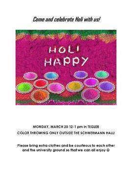 Come and Celebrate Holi with Us!