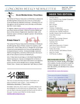 Concordia Weekly Newsletter Volume 07/Issue 01