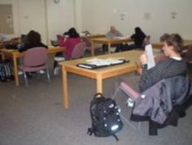 Basement study area