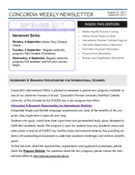 Concordia Weekly Newsletter Volume 07/Issue 34