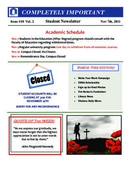 Concordia Weekly Newsletter Volume 02/Issue 10