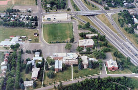 Aerial view of campus, South side