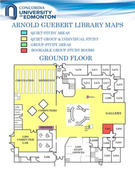 Arnold Guebert Library maps