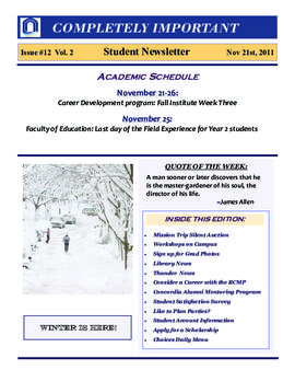 Concordia Weekly Newsletter Volume 02/Issue 12