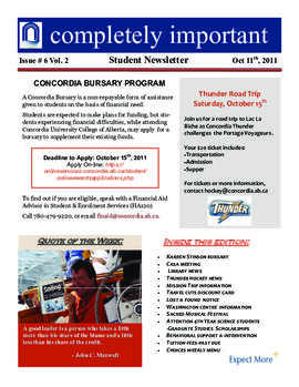 Concordia Weekly Newsletter Volume 02/Issue 06