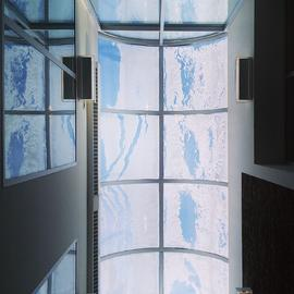 Snowy skylight (view looking up from main floor)