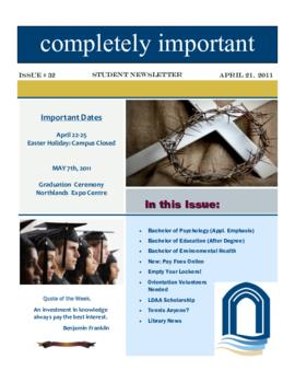 Concordia Weekly Newsletter Volume 01/Issue 32
