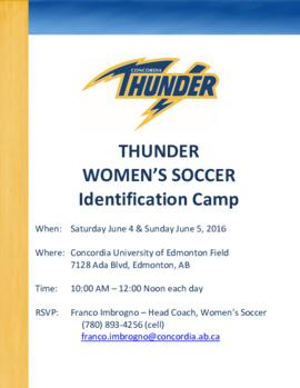 Thunder Women's Soccer Identification Camp