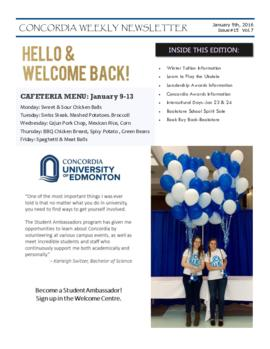 Concordia Weekly Newsletter Volume 07/Issue 15