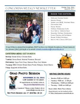 Concordia Weekly Newsletter Volume 07/Issue 08