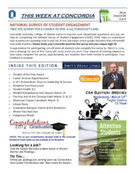 Concordia Weekly Newsletter Volume 04/Issue 26
