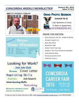 Concordia Weekly Newsletter Volume 05/Issue 16