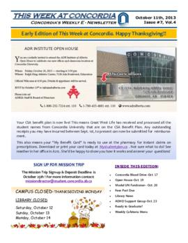 Concordia Weekly Newsletter Volume 04/Issue 07