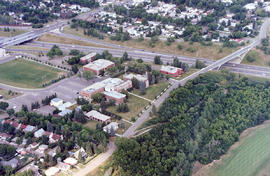 Aerial view of campus, South West side