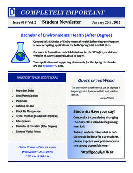 Concordia Weekly Newsletter Volume 02/Issue 18