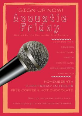 Acoustic Friday!