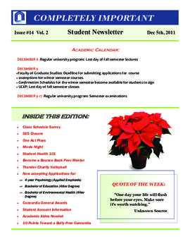 Concordia Weekly Newsletter Volume 02/Issue 14