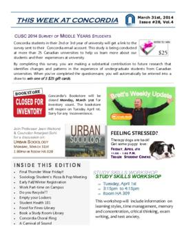 Concordia Weekly Newsletter Volume 04/Issue 28