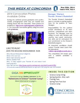 Concordia Weekly Newsletter Volume 04/Issue 34