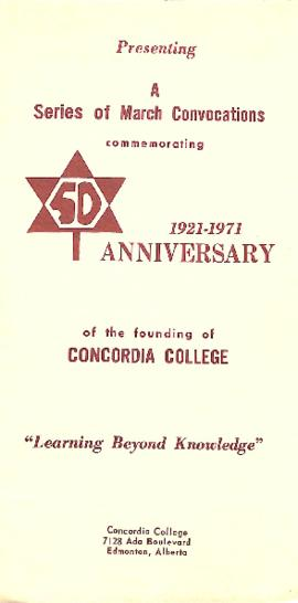 A series of March convocations commemorating 50th Anniversary of the founding of Concordia College