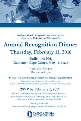 Annual Recognition Dinner