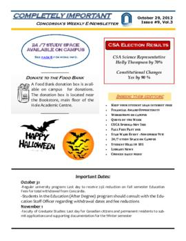 Concordia Weekly Newsletter Volume 03/Issue 09
